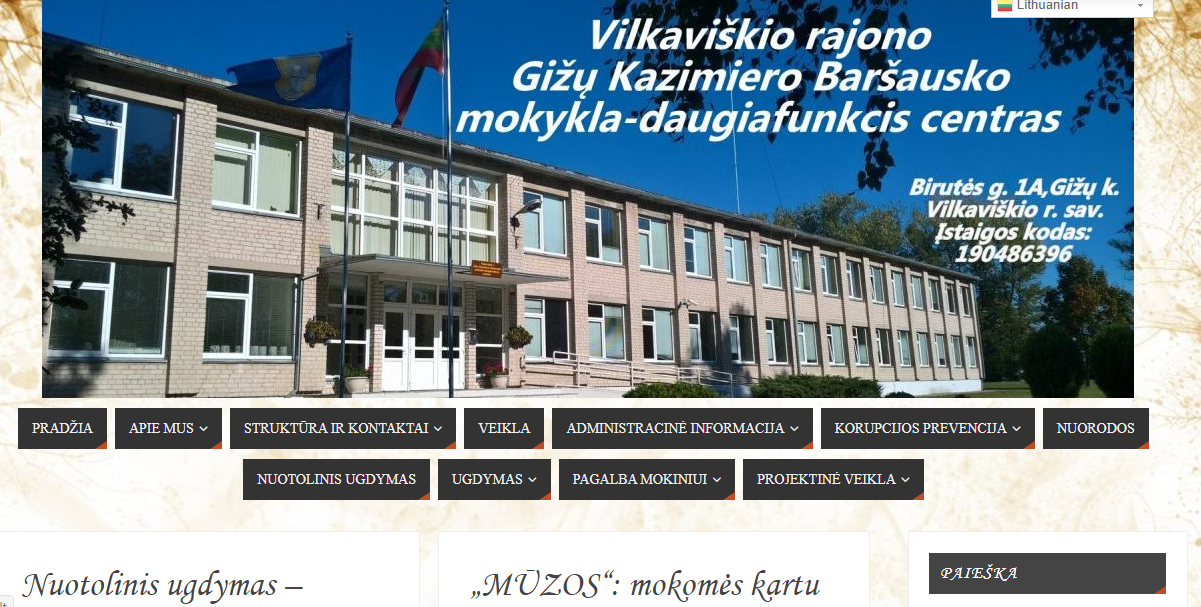 Mokyklos puslapis