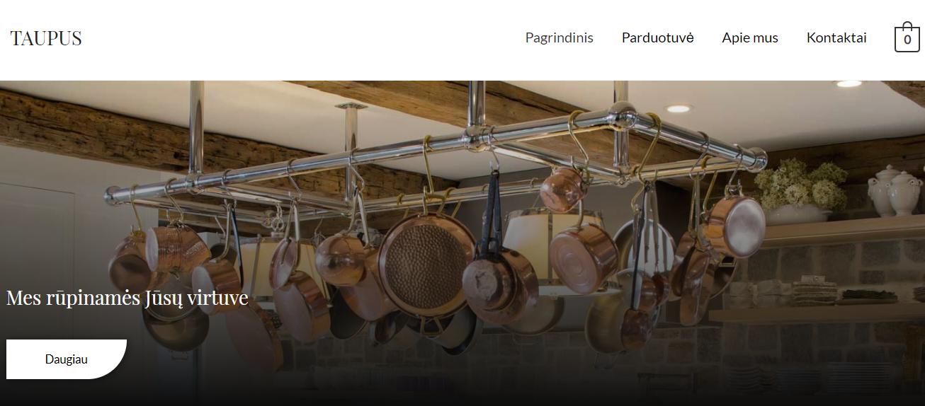 Taupus.online - internetinė parduotuvė naujam verslui